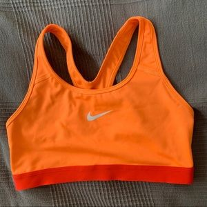 orange mike sports bra